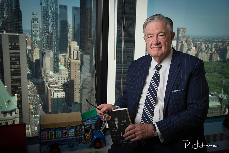 June 2, 2014, Jack Devine in his NYC office / Former CIA Exec has written a book / West Chester University Alumni / Photo by Bob Laramie