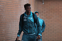 Tammy Abraham of Swansea City arrives at Turf Moor prior to the Premier League match between Burnley and Swansea City at Turf Moor, Burnley, England, UK. Saturday 18 November 2017