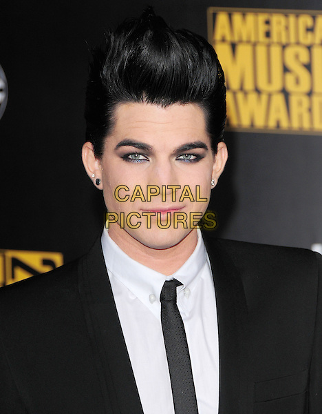 ADAM LAMBERT.The 2009 American Music Awards held at The Nokia Theatre L.A. Live in Los Angeles, California, USA. .November 22nd, 2009.AMA AMA's headshot portrait black white make-up eyeliner guyliner  .CAP/RKE.©DVS/RockinExposures/Capital Pictures