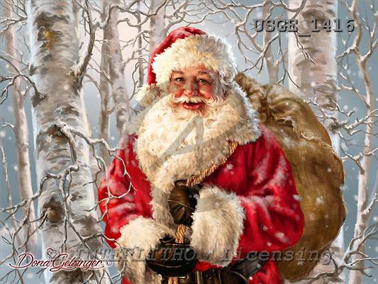 Dona Gelsinger, CHRISTMAS SANTA, SNOWMAN, paintings+++++,USGE1416,#x# Weihnachtsmänner, Papá Noel, Weihnachten, Navidad, illustrations, pinturas klassisch, clásico