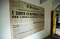 """The Italian Republic is born.<br /> <br /> Rome, 07/11/2018. Today, ANPI Roma (National Association of Italian Partizans, Members of the Italian Resistance) celebrated the 100th birthday of Partizan GAP Commander Prof. Mario Fiorentini holding a fully booked public event at the Casa della Memoria e della Storia di Roma (House of Memory and History of Rome). Mario Fiorentini (AKA, Giovanni, as the Apostle; Gandhi, due to be very skinny; Fringuello, due to a launch with a parachute; Dino, as he is called in Piedmont, https://bit.ly/2PL1IHn) was the Commander of the GAP """"Antonio Gramsci"""" in Rome. The GAPs - Gruppi di Azione Patriottica (Patriotic Action Groups, https://bit.ly/2K3jCmJ) were famous because their members, called """"Gappisti"""", carried out acts of sabotage & guerrilla warfare against nazi-fascist troups in cities such as Rome, Milan, Genova, Bologna and others. In Rome, Mario Fiorentini, along with his wife Lucia Ottobrini """"Maria"""" and other partizans, took part in numerous acts of guerrilla including the """"Attack of Via Rasella"""" on 23 March 1944 (Aredeatine Massacre on Wikipedia, https://bit.ly/2ASTk0a). The Man of """"Three Lives in One"""", as Mario Fiorentini is usually described: """"Humanist, GAP Partizan, Mathematician"""", was a roman communist intellectual member of a Jewish family who joined the Partizans Resistance (https://bit.ly/20uiWFf) after the 8 September 1943 Armistice. Subsequently the end of WWII, Mario, helped by his wife, studied maths becaming Professor of Superior Geometry at the University of Ferrara and a globally-known Mathematichian.<br /> <br /> More info about event & organisers:  https://bit.ly/2D96uYA & https://bit.ly/2SUD3yZ<br /> ANSA Doc (in ITA) """"Mario e Lucia, di guerra e d'amore"""" https://bit.ly/1Dg7Ntj"""