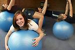 Swiss Ball Class<br /> &copy;Steve Pope <br /> Sportingwales