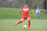 Boyds MD - April 19, 2014: Ali Krieger (11) of the Washington Spirit. The Washington Spirit defeated the FC Kansas City 3-1 during a regular game of the 2014 season of the National Women's Soccer League at the Maryland SoccerPlex.
