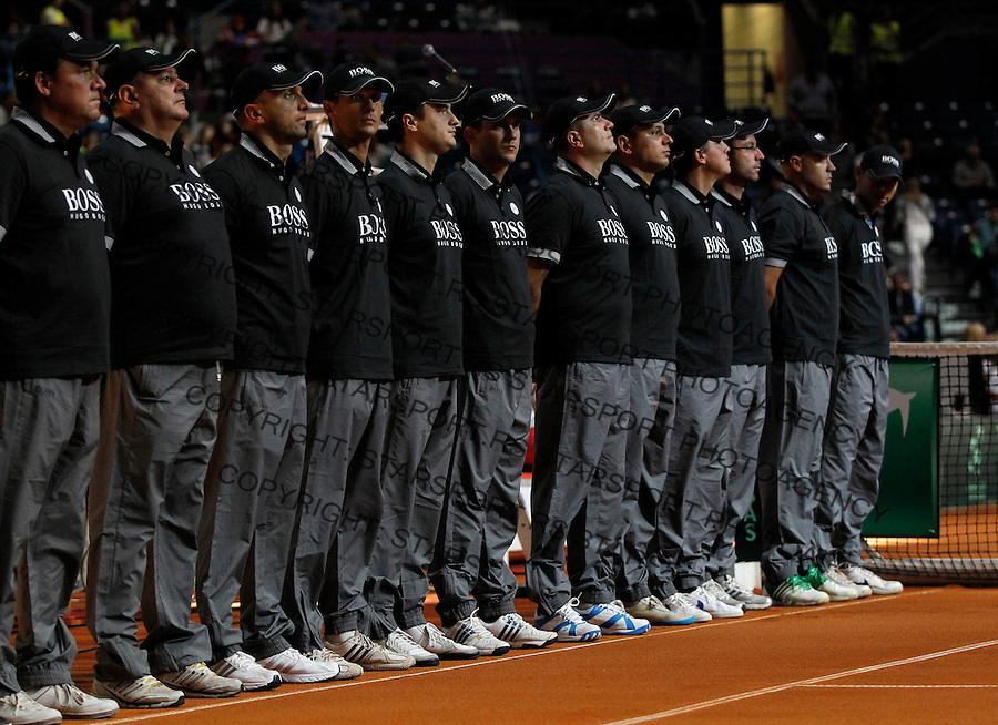 Tennis Tenis<br /> Davis Cup semifinal polufinale<br /> Serbia v Canada<br /> referees sudije<br /> Beograd, 15.09.2013.<br /> foto: Srdjan Stevanovic/Starsportphoto &copy;