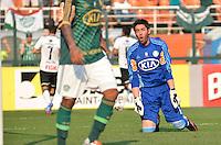 ATENÇÃO EDITOR: FOTO EMBARGADA PARA VEÍCULOS INTERNACIONAIS - SÃO PAULO, SP, 16 DE SETEMBRO DE 2012 - CAMPEONATO BRASILEIRO - PALMEIRAS x CORINTHIANS: Romarinho comemora gol do Corinthians durante partida Palmeiras x Corinthians, válida pela 25ª rodada do Campeonato Brasileiro no Estádio do Pacaembú. FOTO: LEVI BIANCO - BRAZIL PHOTO PRESS