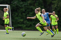 Seattle, WA - Sunday, May 22, 2016: Seattle Reign FC midfielder Kim Little (8) looks for a pass during a regular season National Women's Soccer League (NWSL) match at Memorial Stadium. Chicago Red Stars won 2-1.