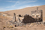 Stone ruins in the Nevada ghost town of Candelaria.