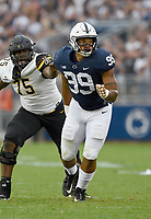 STATE COLLEGE, PA - SEPTEMBER 1:  Penn State DE Yetur Gross-Matos (99) rushes the quarterback. The Penn State Nittany Lions defeated the Appalachian State Mountaineers 45-38 in overtime on September 1, 2018 at Beaver Stadium in State College, PA. (Photo by Randy Litzinger/Icon Sportswire)