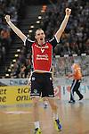 Nach 167 L&auml;nderspielen mit 576 Toren beendet Holger Glandorf seine Karriere in der deutschen Handball-Nationalmannschaft. Der 31-j&auml;hrige Linksh&auml;nder war 2007 Weltmeister und gewann im Juni mit der SG Flensburg-Handewitt die Champions League<br /> Archiv aus: <br />  14.04.13, O2 World, Hamburg, GER, HBL, Final Four, Finale, SG Flensburg-Handewitt vs THW Kiel,  im Bild Holger Glandorf (Flensburg #09) jubelt // during match at O2 World 2013/04/14,Hamburg<br /> Foto &copy; nph/ Witke *** Local Caption ***