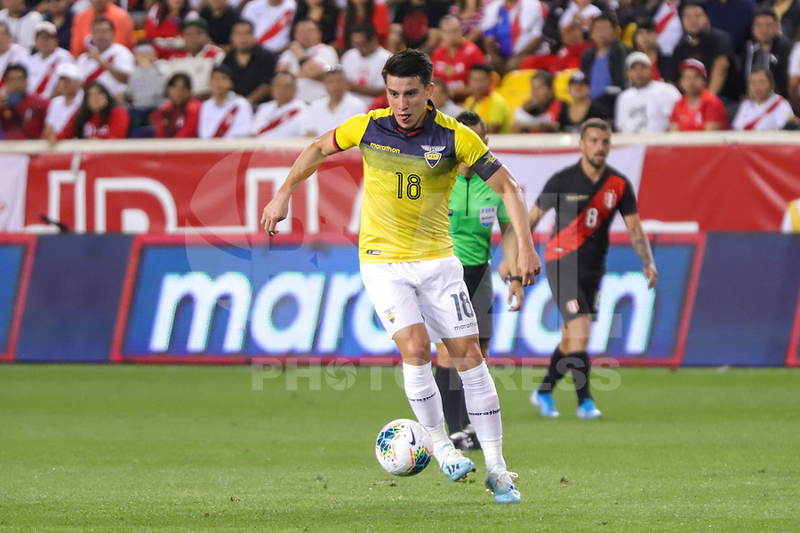 Harrison (EUA), 05/09/2019 - Amistoso Internacional - Peru x Equador -   Fernando Gaibor do Equador durante partida contra o Peru amistoso internacional na Red Bull Arena em Harrison nos Estados Unidos nesta quinta-feira, 05.  (Foto: William Volcov/Brazil Photo Press)