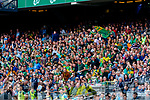 Spectators watch on during the GAA Football All-Ireland Senior Championship Final match between Kerry and Dublin at Croke Park in Dublin on Sunday.