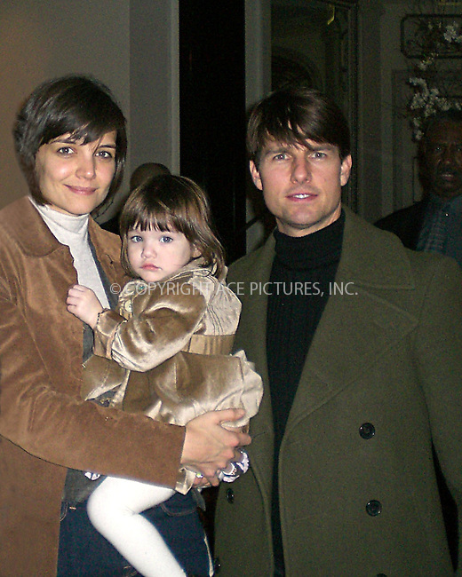 WWW.ACEPIXS.COM ** ** ** ....January 13 2008, New York City....***EXCLUSIVE TO ACE PICTURES - PLEASE PHONE PHILIP VAUGHAN (646 769 0430) FOR RATES***....Actors Tom Cruise and Katie Holmes arrive at their Upper East Side Hotel with daughter Suri.....Please byline: ACEPIXS.COM.. *** ***  ..Ace Pictures, Inc:  ..tel: (646) 769 0430..e-mail: info@acepixs.com..web: http://www.acepixs.com