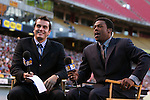 16 October 2004: MLS television commentators Max Bretos (left) and Allen Hopkins (right). The Kansas City Wizards defeated the Los Angeles Galaxy 1-0 at Arrowhead Stadium in Kansas City, MO in a regular season Major League Soccer game..