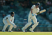 November 4th 2017, WACA Ground, Perth Australia; International cricket tour, Western Australia versus England, day 1; Dawid Malan plays off his hips during his innings
