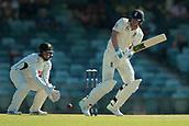 November 4th 2017, WACA Ground, Perth Australia; International cricket tour, Western Australia versus England, day 1; Dawid Malan plays off his hips during his innings
