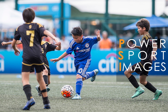 U-11 Cup Final - Chelsea Football Club v Tai Tam Tigers during the Juniors tournament of the HKFC Citi Soccer Sevens on 22 May 2016 in the Hong Kong Footbal Club, Hong Kong, China. Photo by Li Man Yuen / Power Sport Images