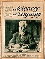 Europe/Europe/France/Midi-Pyrénées/46/Lot/Padirac: Gouffre de Padirac _ Portrait d' Edouard-Alfred Martel à la couverture de la revue: Sciences et Voyages
