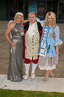 Suzanne Shaw, Russell Grant and Holly Brewer at the Photocall to launch Cinderella Pantomime, Aylesbury Waterside Theatre, Buckinghamshire. 15/09/2014 Picture by: Dave Norton / Featureflash