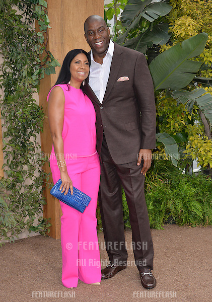 LOS ANGELES, CA. June 27, 2016: Basketball star Earvin Magic Johnson &amp; wife Cookie Johnson at the world premiere of &quot;The Legend of Tarzan&quot; at the Dolby Theatre, Hollywood.<br /> Picture: Paul Smith / Featureflash