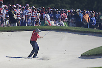 J.B. Holmes (Team USA) on the 5th green side bunker during the Friday afternoon Fourball at the Ryder Cup, Hazeltine national Golf Club, Chaska, Minnesota, USA.  30/09/2016<br /> Picture: Golffile | Fran Caffrey<br /> <br /> <br /> All photo usage must carry mandatory copyright credit (&copy; Golffile | Fran Caffrey)