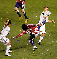 Chivas USA forward Chukwudi Chijindu comes in late in the match to spice up a failing Chivas USA offence. The LA Galaxy defeated Chivas USA 2-0 during the Super Clasico at Home Depot Center stadium in Carson, California Thursday evening April 1, 2010.  .
