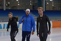 SCHAATSEN: HEERENVEEN: 31-10-2019, IJsstadion Thialf, Team Frysk, Marwin Talsma, trainer Siep Hoekstra, ©foto Martin de Jong