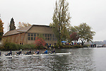 Rowing, ASUW Shell House, Head of the Lake, Regatta, November 5, 2017, Seattle, Washington State, Lake Washington Rowing Club, the University of Washington, Pacific Northwest, USA,