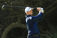 Calum Hill (SCO) on the 8th tee during Round 2 of the Challenge Tour Grand Final 2019 at Club de Golf Alcanada, Port d'Alcúdia, Mallorca, Spain on Friday 8th November 2019.<br /> Picture:  Thos Caffrey / Golffile<br /> <br /> All photo usage must carry mandatory copyright credit (© Golffile | Thos Caffrey)