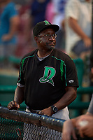 Dayton Dragons Mike Devereaux during a Midwest League game against the Kane County Cougars on July 20, 2019 at Northwestern Medicine Field in Geneva, Illinois.  Dayton defeated Kane County 1-0.  (Mike Janes/Four Seam Images)