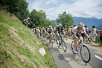 Andr&eacute; Greipel (DEU/Lotto-Soudal) &amp; Marcel Kittel (DEU/Etixx-Quickstep) proceeding the peloton (with yellow jersey Chris Froome) up the first (uncategorised) climb together; the Collet de Tami&eacute; (8.1km @7%)<br /> <br /> Stage 19:  Albertville &rsaquo; Saint-Gervais /Mont Blanc (146km)<br /> 103rd Tour de France 2016