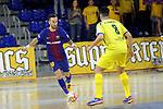 League LNFS 2017/2018 - Game 15.<br /> FC Barcelona Lassa vs Gran Canaria FS: 9-2.<br /> Mario Rivillos vs Ivan Gonfaus.