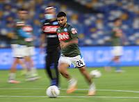 13th June 2020; Stadio San Paolo, Naples, Campania, Italy; Coppa Italia Football, Napoli versus Inter Milan; Lorenzo Insigne of Napoli during warm up with a slow shutter camera blur