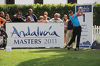 Christian Cevaer (FRA) during the 1st day at the  Andalucía Masters at Club de Golf Valderrama, Sotogrande, Spain. .Picture Fran Caffrey www.golffile.ie