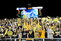 11 October 2008:  FIU fans celebrate the first home victory in FIU's new on-campus stadium after the conclusion of the FIU 31-21 victory over Middle Tennessee at FIU Stadium in Miami, Florida.