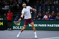 1st November 2019, AccorHotels Arena, Bercy, Paris, France; Rolex Paris Masters tennis tournament;  Grigor Dimitrov (BUL)