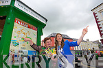 Hotel room are almost booked out for the rose of Tralee festival, but the the Voluntees of the Tourist Information will point you in the right direction to any vacancies Pictured Triona Houlihan, and Kerry rose Mary Hickey.