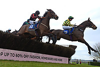 Findusatgorcombe ridden by Bryony Frost far side  in The Weatherbys Racing Bank Silver Buck Handicap Chase  during Horse Racing at Wincanton Racecourse on 5th December 2019
