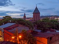 armenische Kirche bei der Kote Apkhazi,  Skyline, Tiflis – Tbilissi, Georgien, Europa<br /> Armenian Church near Kote Abkhazi, Skyline. Tbilisi, Georgia, Europe