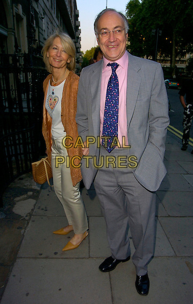 SANDRA & MICHAEL HOWARD .The Tatler Summer Party, Home House, London, UK..June 29th, 2006.Ref: CAN.full length grey gray suit brown.www.capitalpictures.com.sales@capitalpictures.com.©Capital Pictures