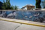 Mural Near Pablo Neruda House in Santiago