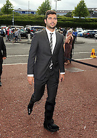 Pictured: Jordi Amat arrives Wednesday 20 May 2015<br /> Re: Swansea City FC Awards Dinner at the Liberty Stadium, south Wales, UK