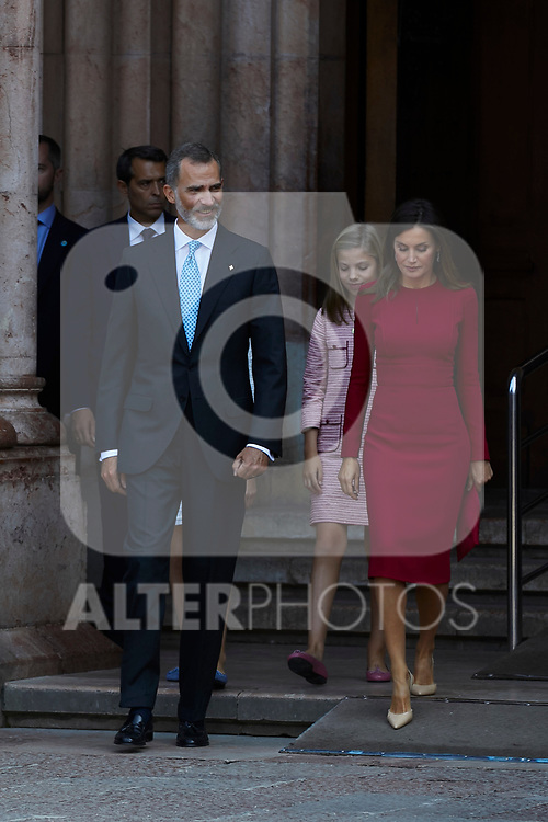 King Felipe VI of Spain and Queen Letizia of Spain visit Covadonga, Spain. September 08, 2018. (ALTERPHOTOS/A. Perez Meca)