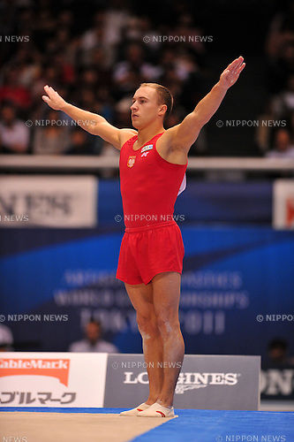 Marek Lyszczarz (POL),.OCTOBER 10, 2011 - Artistic Gymnastics : FIG World Championships Tokyo 2011 Artistic Gymnastics at Tokyo Metropolitan Gymnasium, Tokyo, Japan. (Photo by Jun Tsukida/AFLO SPORT)