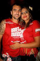 SAO PAULO, SP, 19 DE FEVEREIRO 2012 - CAMAROTE BAR BRAHMA - Danilo jogador do Corinthians e sua namorada Mirian foram vistos no Camarote Bar Brahma, no primeiro dia de desfiles do Grupo Especial do Carnaval de Sao Paulo, na madrugada deste domingo, 19 no Sambodromo do Anhembi regiao norte da capital paulista. FOTO: UINY MIRANDA - BRAZIL PHOTO PRESS).