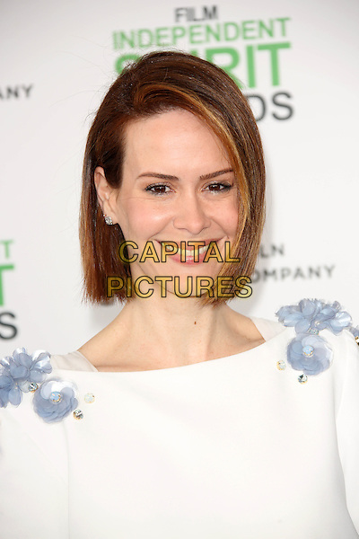 SANTA MONICA, CA - March 01: Sarah Paulson at the 2014 Film Independent Spirit Awards Arrivals, Santa Monica Beach, Santa Monica,  March 01, 2014. Credit: Janice Ogata/MediaPunch<br /> CAP/MPI/JO<br /> &copy;JO/MPI/Capital Pictures