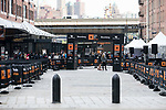 Runners compete during the Bloomberg Square Mile Relay race across New York City 's Financial District on 15 March 2017 in New York, United States. Photo by Jeff Zelevansky / Power Sport Images