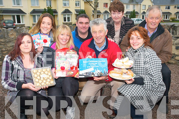Christmas will be extra special in Firies this year with a unique Christmas market on Sunday, December 16th. .Front L-R Helena O'Sullivan, Edwina Moynihan, David Gleeson and Frances Henderson. .Back L-R Elaine O'Connor, Kevin Moynihan, Margaret O'Connor, and Cllr Brendan Cronin.