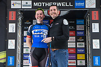 Picture by Alex Whitehead/SWpix.com - 23/05/2017 - Cycling - Tour Series Round 7, Motherwell -  Matrix Fitness Grand Prix - Katie Archibald wins the Brother fastest lap competition.