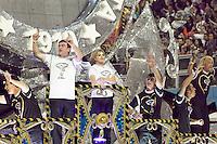 SAO PAULO, SP, 19 DE FEVEREIRO 2012 - CARNAVAL SP - GAVIOES DA FIEL - Andres Sanches, Marisa Leticia, e Biro Biro da escola de samba Gavioes da Fiel na segunda noite do Carnaval 2012 de São Paulo, no Sambódromo do Anhembi, na zona norte da cidade, neste domingo. (FOTO: RICARDO LOU  - BRAZIL PHOTO PRESS).