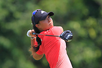 Danielle Kang (USA) in action on the 9th during Round 3 of the HSBC Womens Champions 2018 at Sentosa Golf Club on the Saturday 3rd March 2018.<br /> Picture:  Thos Caffrey / www.golffile.ie<br /> <br /> All photo usage must carry mandatory copyright credit (&copy; Golffile   Thos Caffrey)